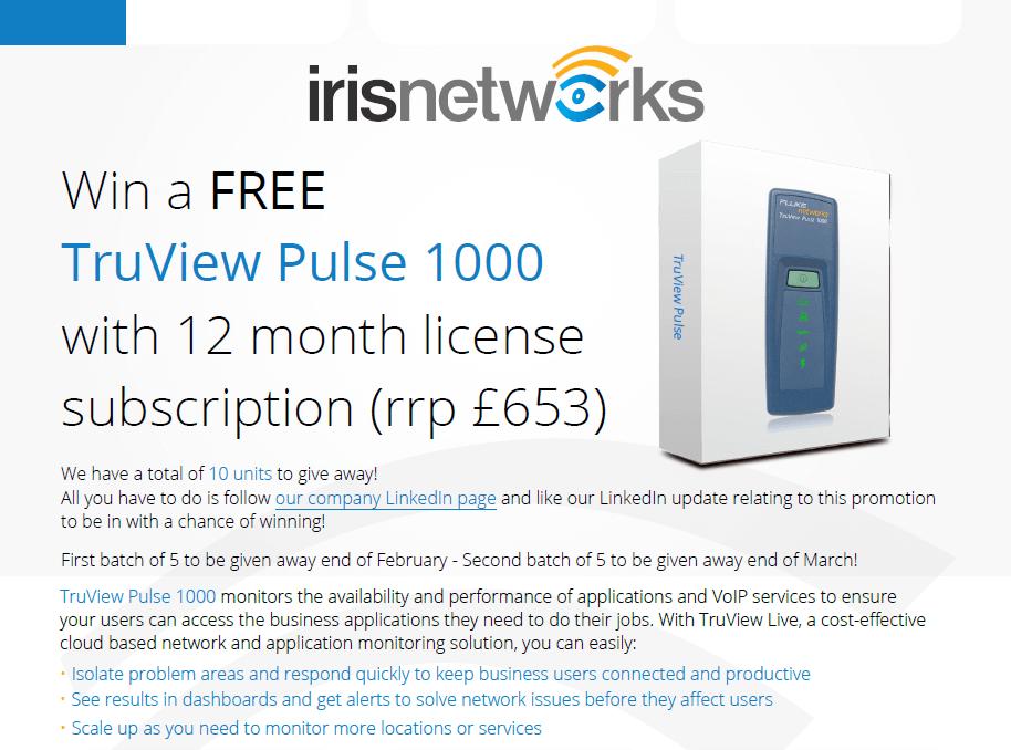 TruView Pulse NetScout Fluke Networks Iris Networks