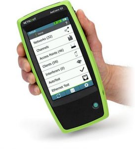 NetAlly AirCheck G2 Wireless Tester in hand