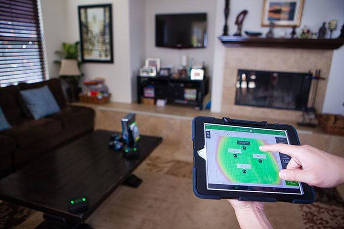 GreenLee AirScout on tablet in home