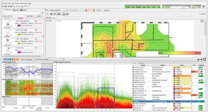 Ekahau Survey Spectrum integration