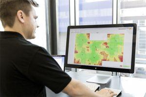 Ekahau Site Survey Planner in use