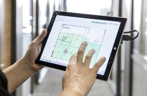 Ekahau Site Survey on a tablet