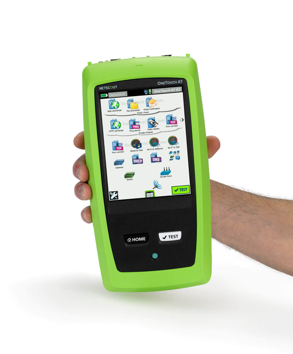 Netscout Onetouch AT G2 in hand